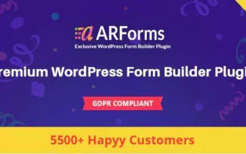 ARForms v3.7.0  - 一个高级WordPress表单生成器插件
