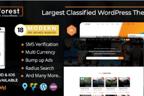 AdForest v4.0.2  - 响应式分类广告WordPress主题