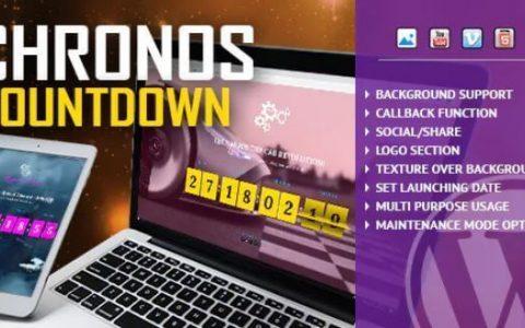 Chronos CountDown v1.0  - 响应式翻转计时器WordPress插件