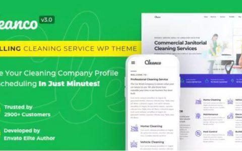 Cleanco v3.0  - 清洁服务公司WordPress主题