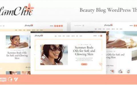 GlamChic v1.0.1  - 美容博客和在线杂志WordPress主题