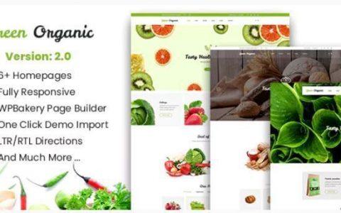 Green Organic v2.5  - 有机商店和面包店WordPress主题