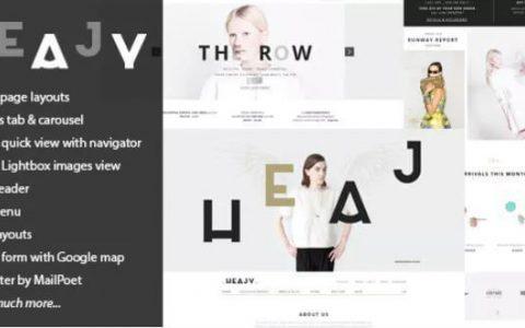 Heajy v1.3.2  - 高级手工时尚WordPress主题