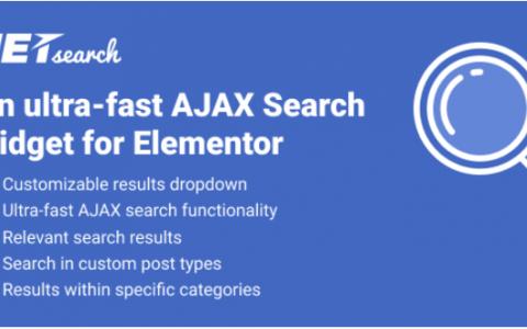 JetSearch v1.1.0  -  Elementor的超快AJAX搜索小部件