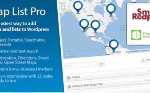 Map List Pro v3.12.11  -  Google Maps&Location Directories插件