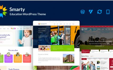 Smarty v3.1  - 学校,学院,大学,校友WordPress主题