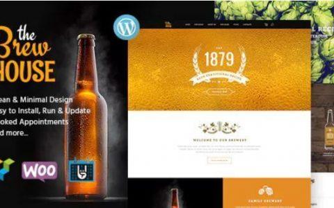 Brew House v1.5  - 啤酒厂/酒吧/餐厅WordPress主题
