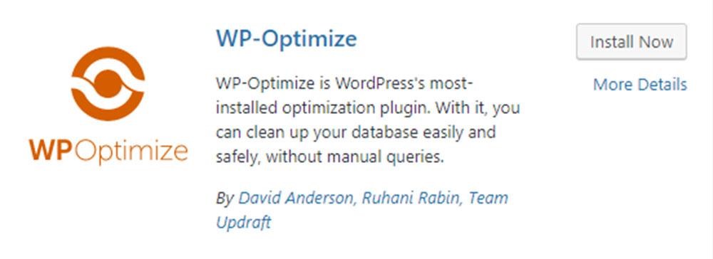 WP Optimize插件