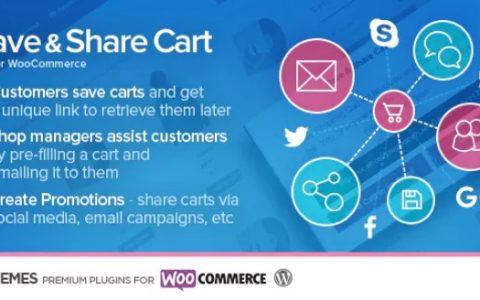 下载 - 为WooCommerce v2.2.0保存并分享购物车