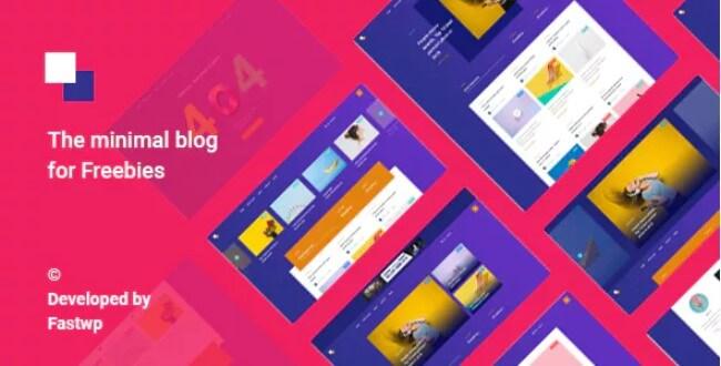 地平线 - 免费赠品现代博客主题