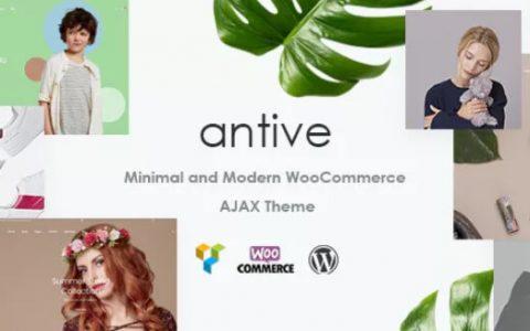 Antive v1.5.1  -  WP Minimal&Modern WooCommerce AJAX主题