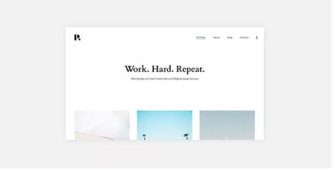 Philament  - 创意摄影/组合WordPress主题为Elementor