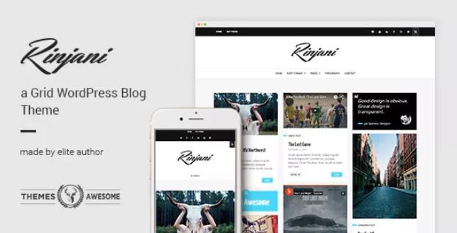 Rinjani  - 响应式网格博客主题