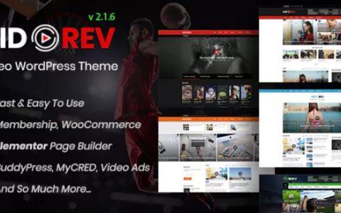 VidoRev v2.1.6  - 高级视频WordPress主题