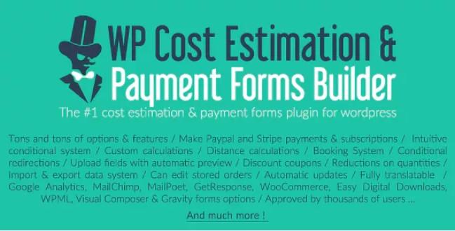 WP成本估算和付款表单生成器