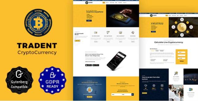 Tradent Cryptocurrency  - 比特币,加密货币主题