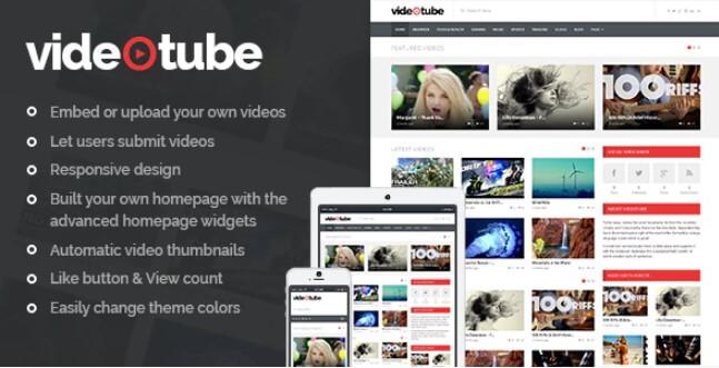 VideoTube  - 响应式视频WordPress主题