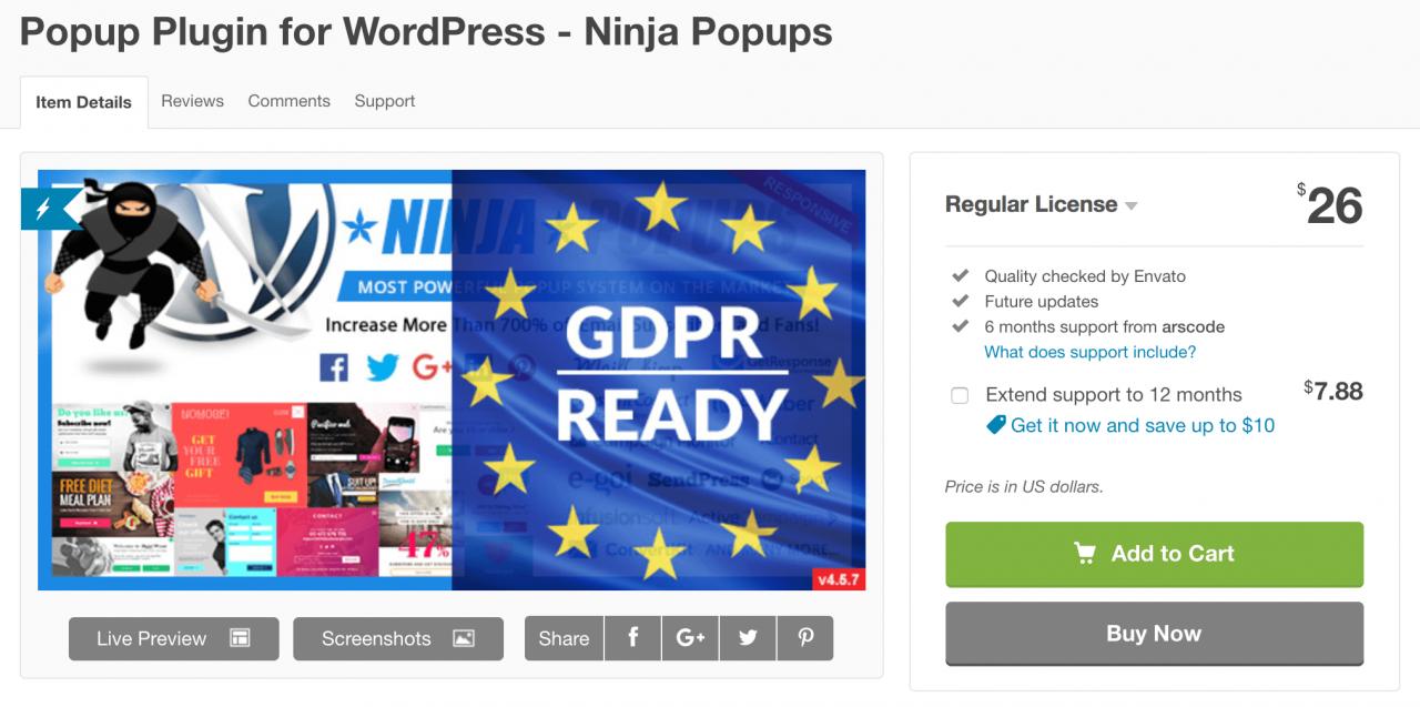 Ninja Popups插件。