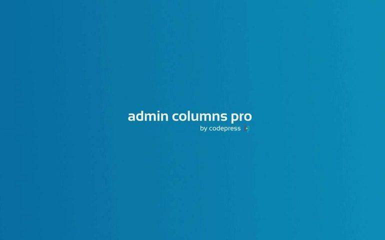 Admin Columns Pro WordPress插件