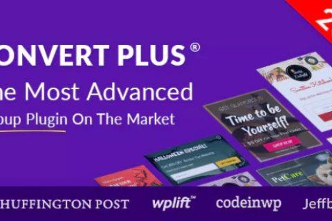 ConvertPlus v3.4.3  - 用于WordPress的弹出插件