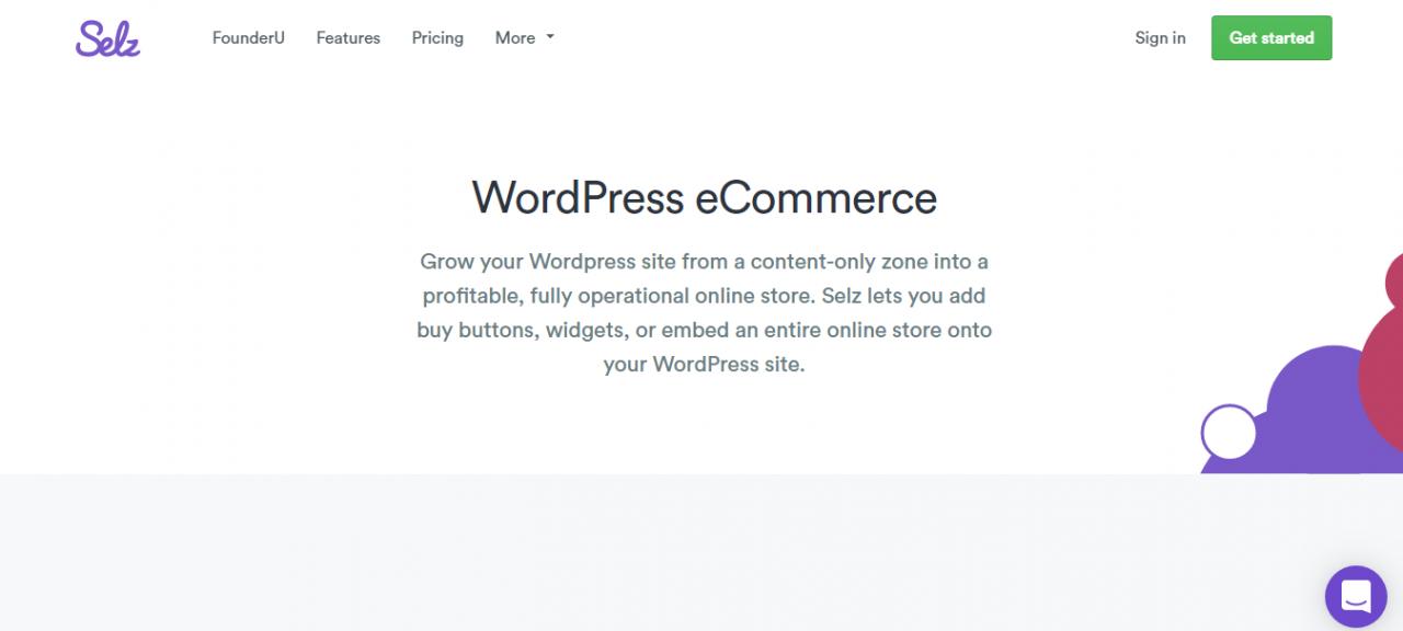 selz wordpress电子商务