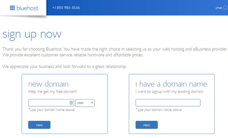 bluehost域名购买