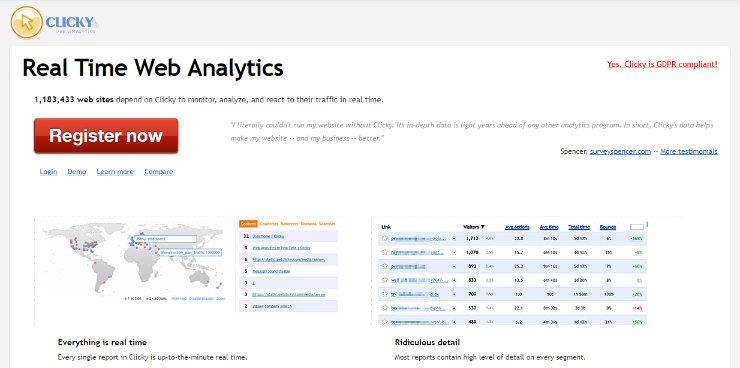 clicky分析