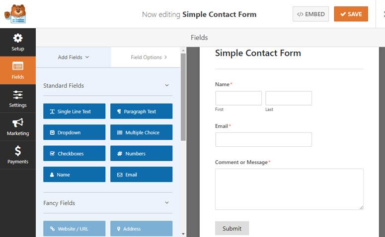 create a simple form