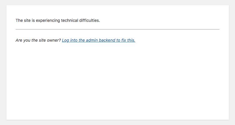 WordPress 5.2中的致命错误保护