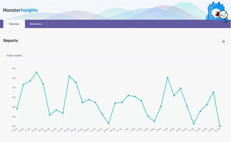 wordpress google analytics with monsterinsights