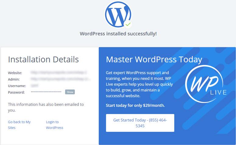 wordpress安装成功