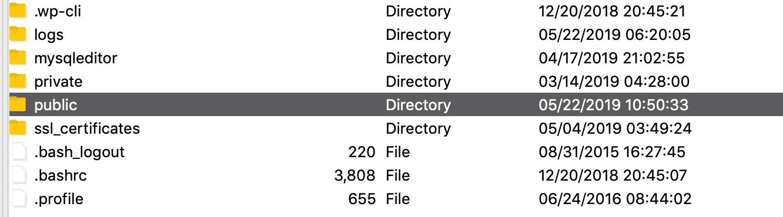 WordPress根文件夹SFTP