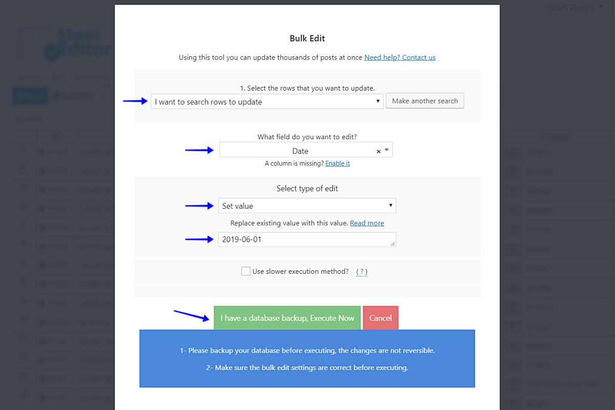 WordPress  - 如何改变数百个帖子的日期