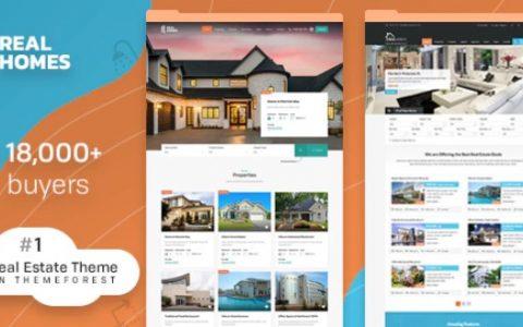 Real Homes v3.9.1  - 高级WordPress房地产主题