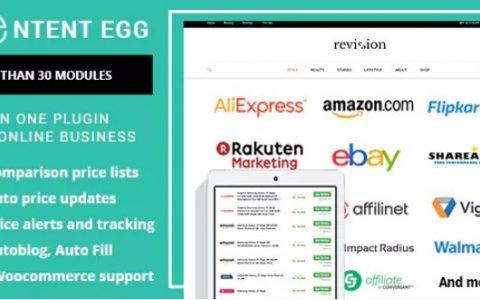Content Egg v5.1.6  - 会员,价格比较WordPress插件
