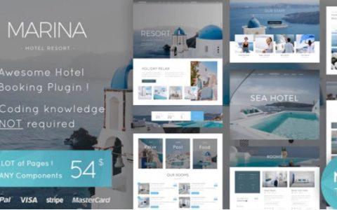 Marina v1.0  - 高級酒店及度假村WordPress主題