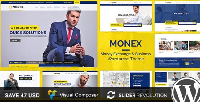 Monex  - 货币兑换和金融业务WordPress主题