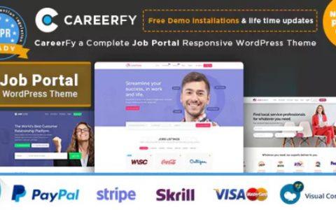 Careerfy v2.3.0  - 完成工作板WordPress主题