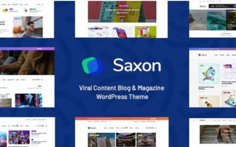 Saxon v1.6.2  - 病毒内容博客和杂志WordPress主题