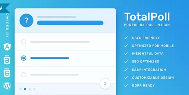 TotalPoll Pro  - 响应式WordPress民意调查插件