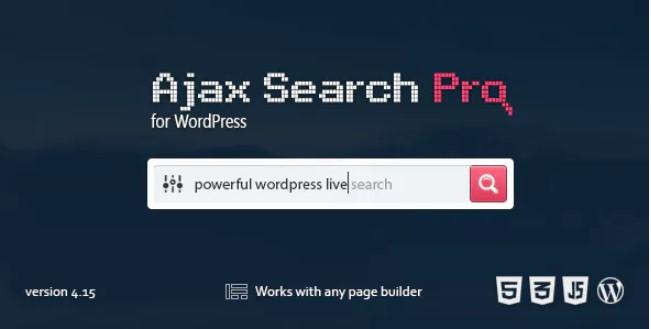 Ajax Search Pro  -  Live WordPress搜索和过滤插件
