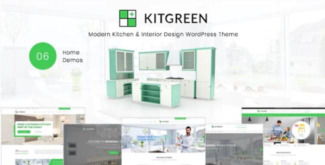KitGreen  - 现代厨房和室内设计WordPress主题