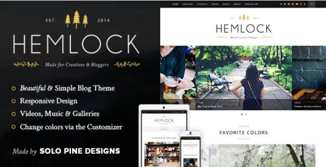 Hemlock  - 一个响应的WordPress博客主题