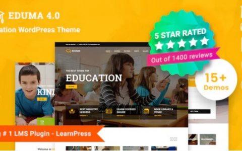 Eduma v4.0.2  - 一个响应式教育WordPress主题
