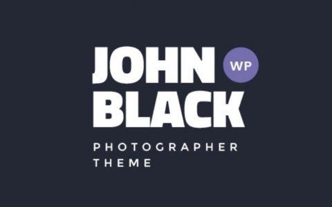 JohnBlack v1.8.4  - 摄影作品集WordPress主题