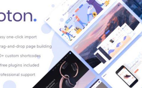 Foton v1.1.1  - 軟體和應用程序登陸頁面主題