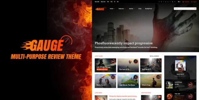 Gauge:多用途评论WordPress主题