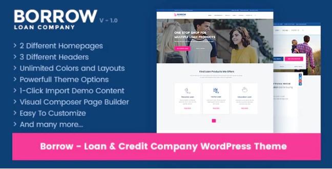 Borrow  - 贷款公司响应WordPress主题