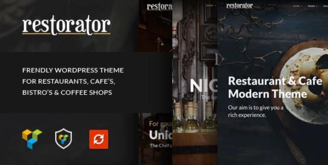 Restorator  - 餐厅和咖啡厅WordPress主题