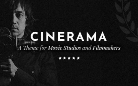 Cinerama v1.5  - 电影工作室和电影制作人的WordPress主题